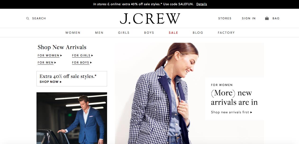 J.Crew user experience