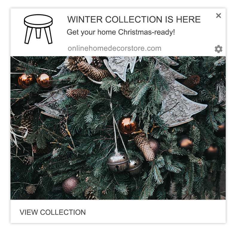 winter collection web push