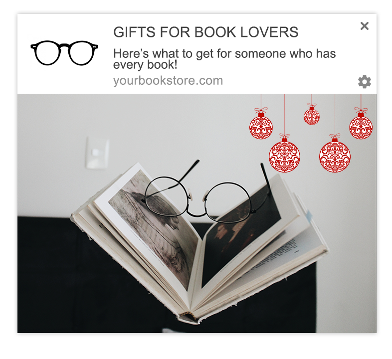 gift guide web push