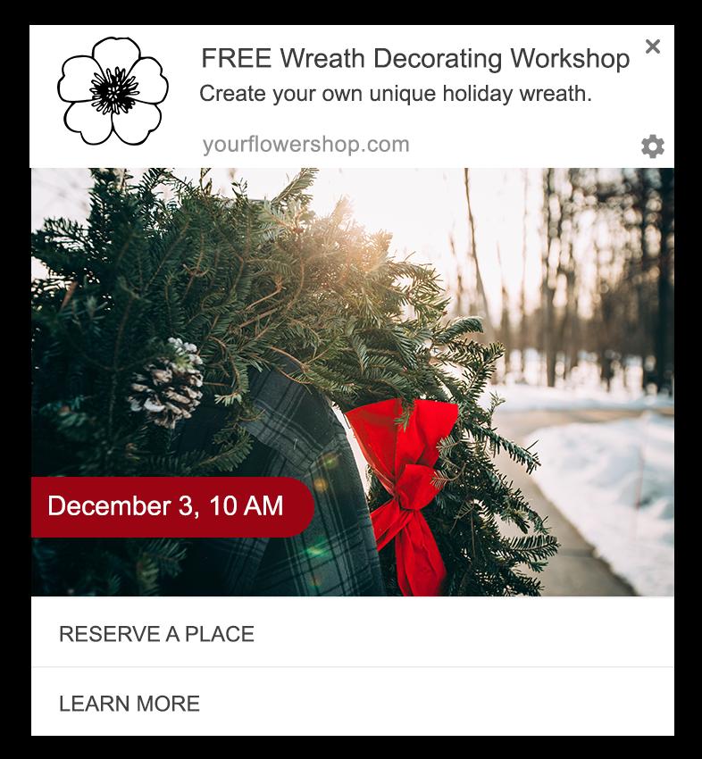 holiday event web push