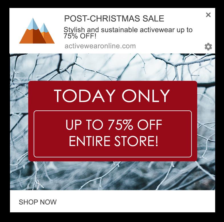 post christmas web push