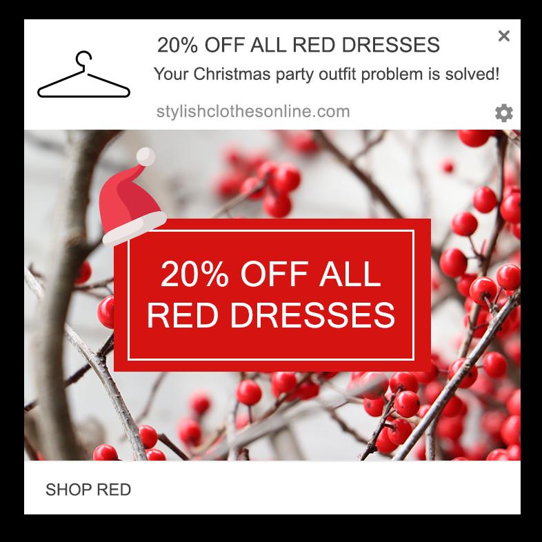 color sale web push