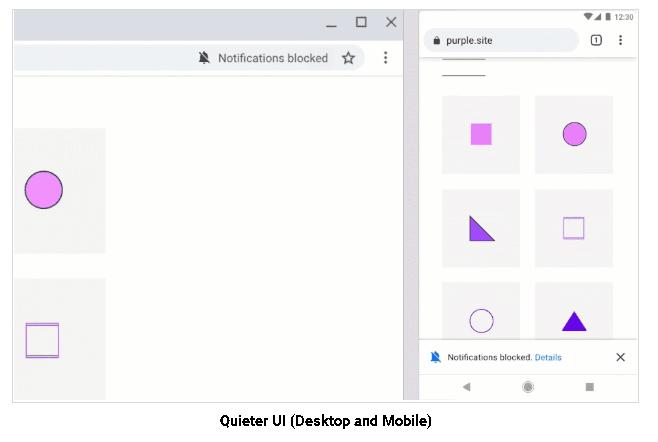 Chrome push notifications - the new Quieter Permission UI